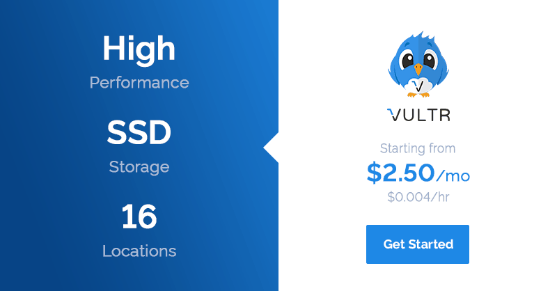 50$ free offer to test Vultr